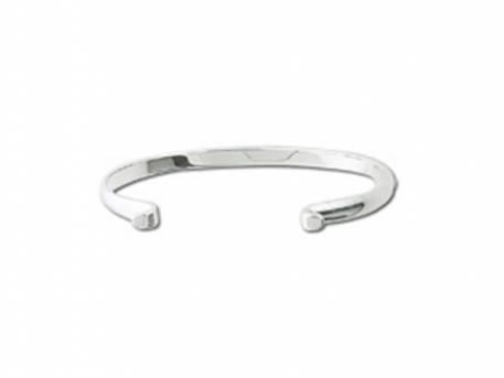 Sterling Silver Plain Converti... - This plain sterling silver Convertibles Bracelet will close using any of the convertibles clasps, allowing you to change the look on a whim.  Buy the bracelet, change the clasps!