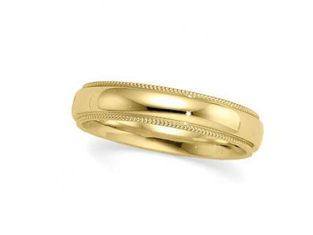 Classic Milgrain Band - 14k yellow millgrain edge band.  Available in a variety of widths and finger sizes as well as your choice of 14k or 18k white or yellow gold, and platinum.
