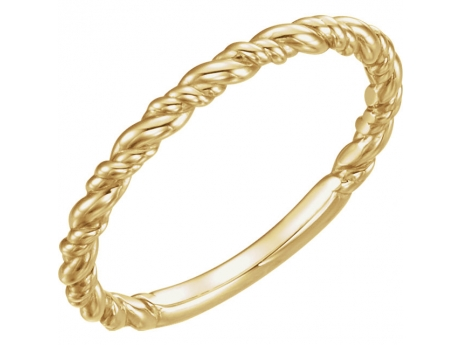 Twisted Rope Band - 14ky gold twisted rope ring.  Available in white, rose and yellow gold. Available for order in whole and 1/2 sizes 4-8.
