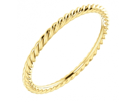 Skinny Twisted Band - 14k skinny twisted band.  Available in 14k white, yellow and rose gold.  Price is dependent on finger size.  Size 7 shown.  Available for order in whole and 1/2 sizes 4-8.5.