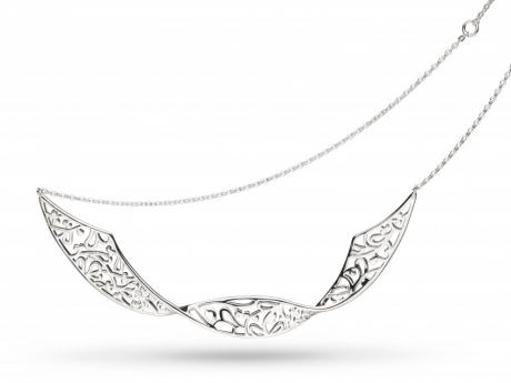 Twisted Blossom Flourish Neckpiece - Sterling Silver Twisted Blossom Flourish Neckpiece