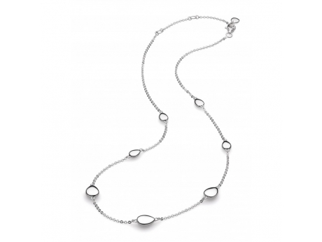 Pebble Necklace - Sterling Silver Pebble Necklace 18in
