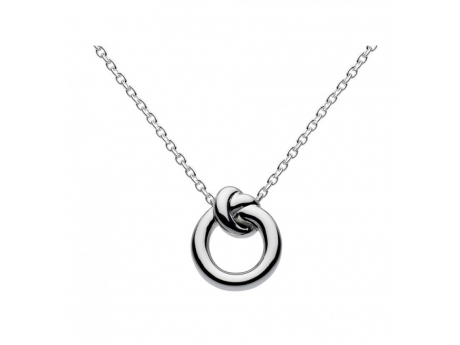 Silver Circle Knot Necklace - Sterling Silver Circle Knot Necklace