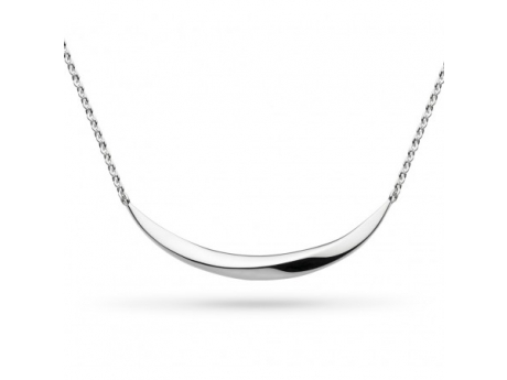 Silver Curved Bar Necklace - Silver Curved Bar Necklace