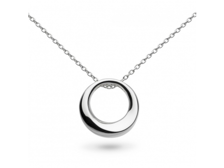 Medium Open Circle Necklace in Sterling Silver