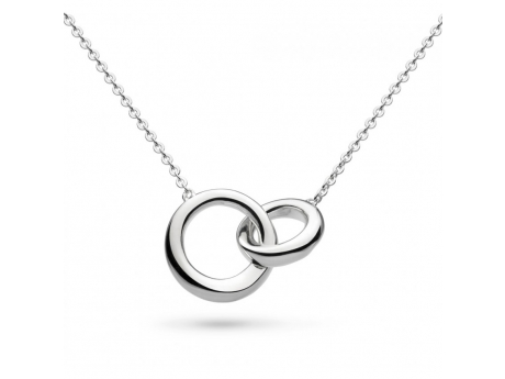 Interlocking Circles Necklace - Sterling Silver Interlocking Circles Necklace