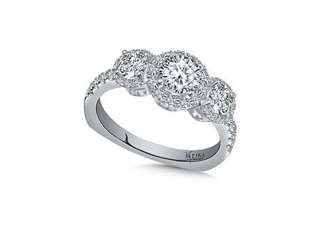 Valina Triple Halo - 14kw 1.40ct total weight triple diamond halo ring.  Perfect for an engagement or special anniversary.  For more Valina designs, visit www.ValinaBridals.com