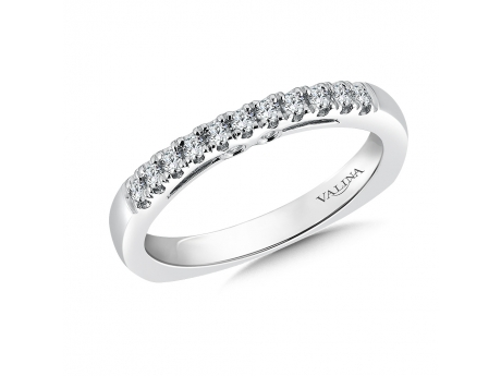 14k white gold diamond band - 14kw diamond band 0.22ct total in diamonds.  Not currently in stock but available for special order.