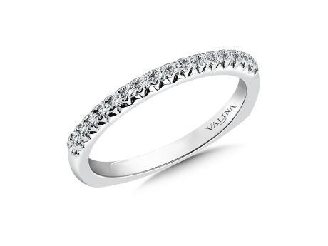 14kw petite single row diamond band - 14k white gold petite single row Valina band with 0.15ct total in diamonds. Not currently in stock but available for special order.