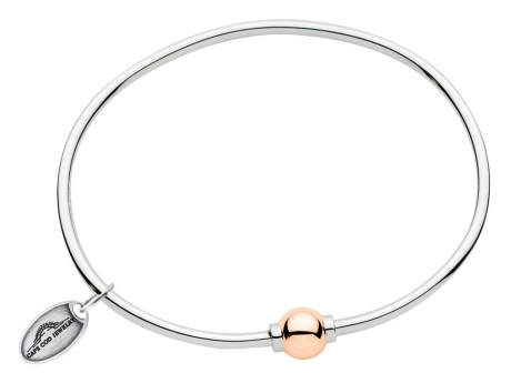 NEW Rose Gold and Silver Cape Cod Bracelet - NEW! Sterling Silver and 14k ROSE gold Cape Cod Bracelet.  Made in Massachusetts.