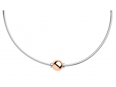 New Rose Gold and Sterling Cape Cod Necklace - Sterling Silver and 14k ROSE gold Cape Cod Necklace.  Made in Massachusetts.