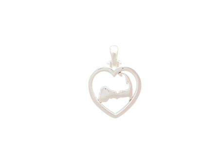 Sterling Silver Cape Heart Pendant, Our Exclusive Design, a portion of the proceeds from the sale of each Cape Heart will go to a different local charity each month.