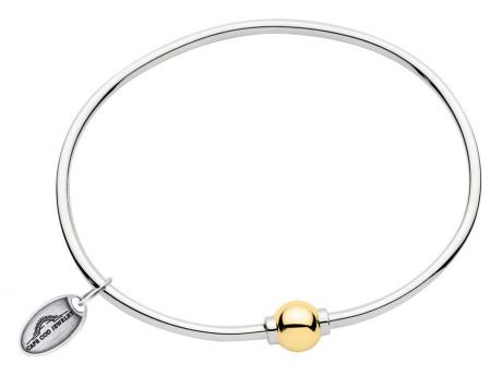 SS/14k Classic Cape Cod Ball Bracelet - SS/14k gold Cape Cod Single Ball Bracelet. This is REAL silver and REAL gold.  It is not lightweight nor gold plated.  Made in Massachusetts