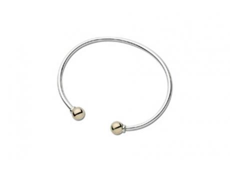 Ss 14k Cape Cod Cuff Bracelet